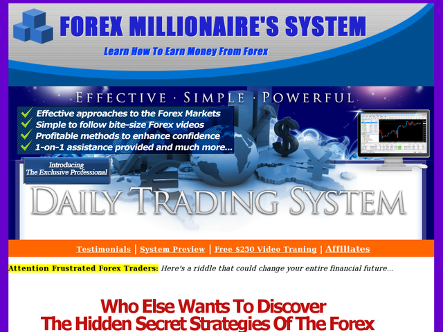 Forex Millionaires System-dts