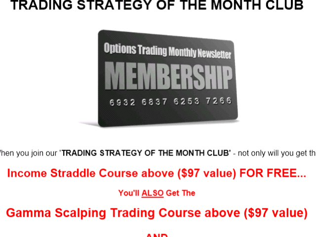 Trading Strategy Of The Month Membership -
