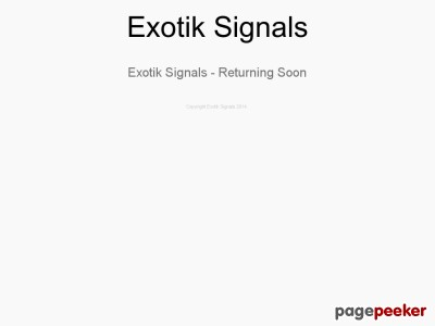 Exotik Signals