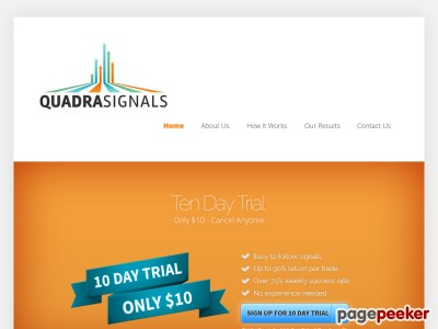 Free Binary Options Trading Signals - 78% accuracy | QuadraSignals