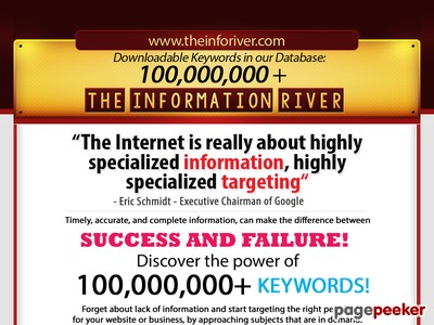The Info River - Flood your website with fresh information! The Complete Keywords Package