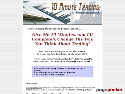 10 Minute Trading :: An Innovative Trading Method