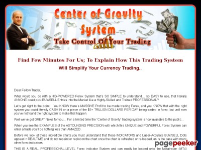 Center of Gravity Forex Trading System