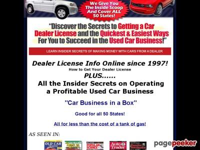 Dealer License Information