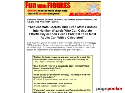 Fun With Figures Official Website - Brilliant Mental Math Short Cuts That Will Amaze Everyone!