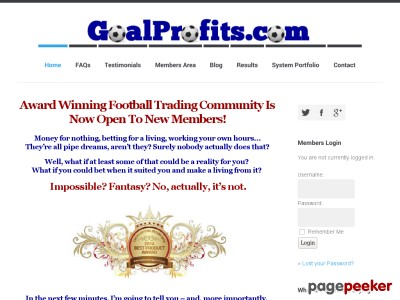 Football Trading on Betfair with Goal Profits