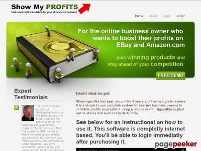eBay and Amazon.com Profits - Showmyprofits.com
