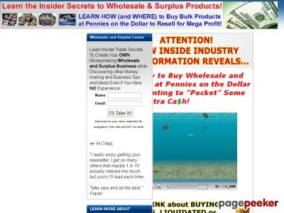 Wholesale   Surplus   Liquidators   Product Sources