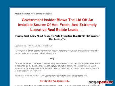 How Real Estate Investors can acquire unlimited Real Estate Marketing Leads through public records requests.