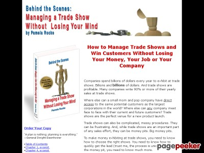 Behind the Scenes: Managing a Trade Show Without Losing Your Mind - The eBook that shows you how to manage trade shows and win customers without losing your money, your job or your company.