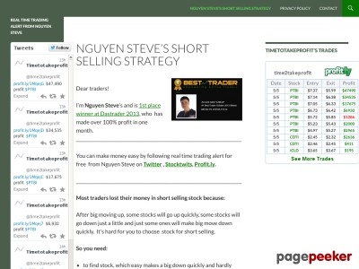 Real time trading alert from Nguyen Steve