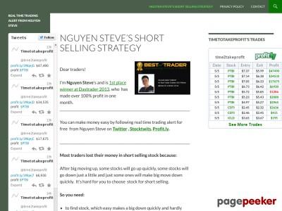 Real time trading alert from Nguyen Steve