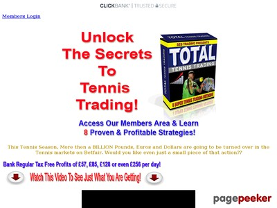 Total Tennis Trading | Betfair Tennis Trading Systems 2017
