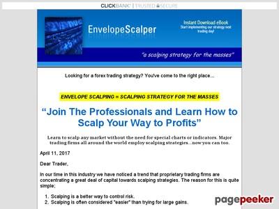 Forex Trading eBook, Envelope Scalping, Envelope Scalper
