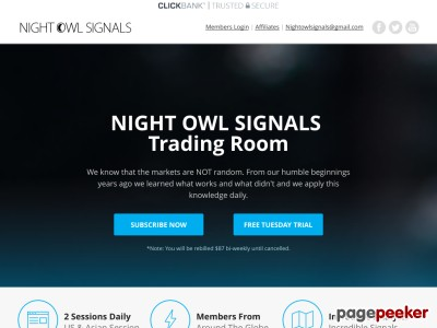 NIGHT OWL SIGNALS - TRADING ROOM