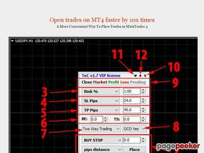 Trader sur graphique | Outil Trading manuel pour MT4