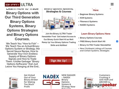 Binary ULTRA - Binary Options Systems, Strategies Courses