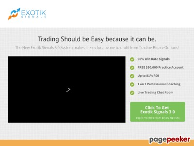Exotik Signals 3.0 - 90% Win Rate Binary Options Trading System