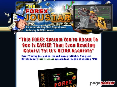 The Forex Joustar System. Highly Accurate Pip Generator. 70+ Pips/day